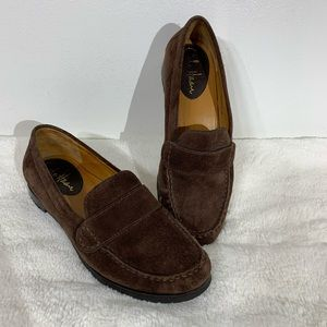 Cole Haan Nike Air Brown Suede Leather Loafers - 6